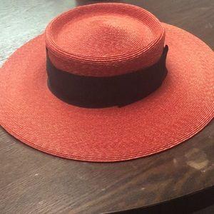 Vintage frank olive Bloomingdales hat